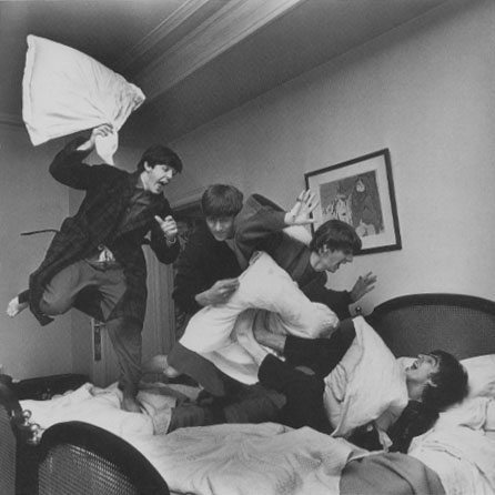 The Beatles at the George V hotel in Paris, France