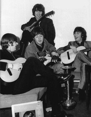 The Beatles at Neil and Mal's London flat