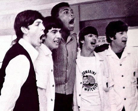 The Beatles and Muhammad Ali (Cassius Clay)