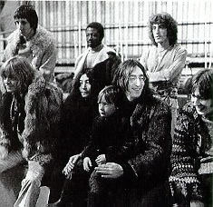 Filming `Rock and Roll Circus'.