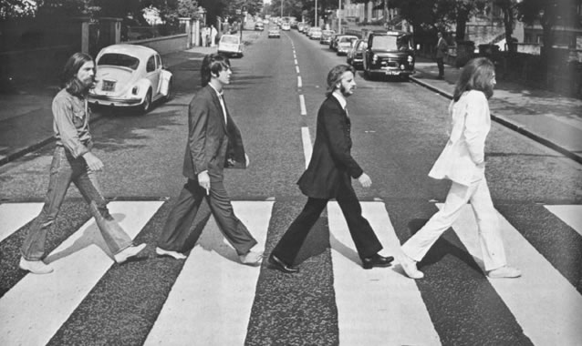 Photographic session for the `Abbey Road' cover