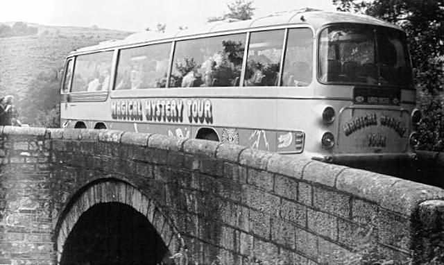 The bus from the Magical Mystery Tour