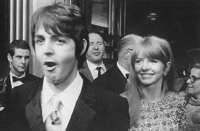 Paul and Jane Asher for the premiere of How I Won The War