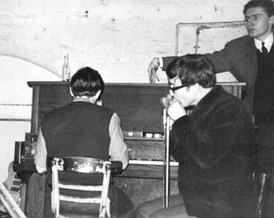 Paul (piano) and John at the Cavern Club
