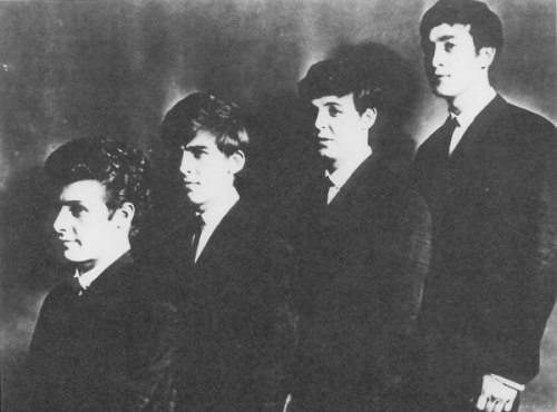 One of the last shots of the Beatles with Pete Best