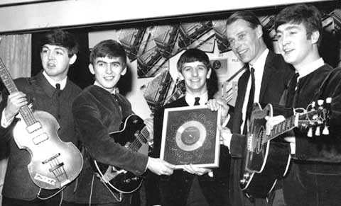 Silver disc for Please Please Me single