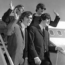 The Beatles arrives in San Francisco