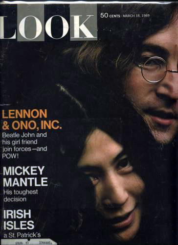 Contains seven page spread on John Lennon and Yoko Ono