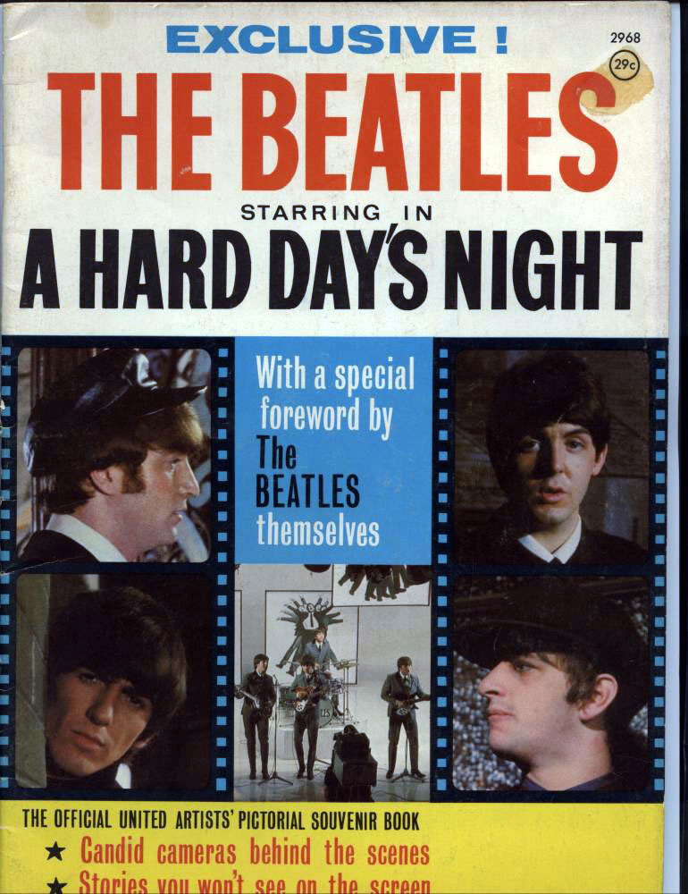 The Beatles Starring in A Hard Days Night Magazine