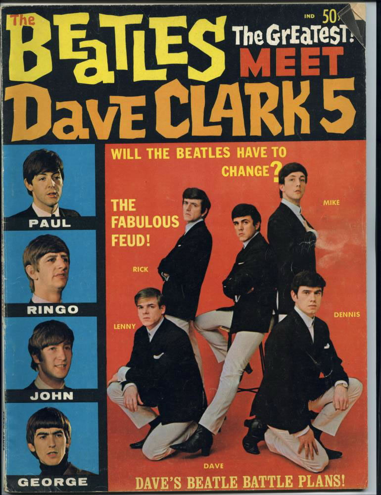 The Beatles Meet the Dave Clark Five Magazine published by Kahn Communications Corporation in 1964
