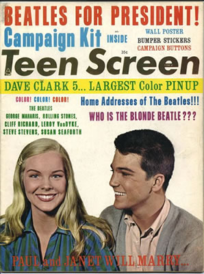 Teen Screen Magazine - with Beatles For President Campaign Kit: Published by Sunset Publication
