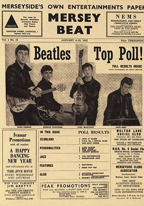 Mersey Beat publishes the results of its first group popularity poll and The Beatles are clear winne