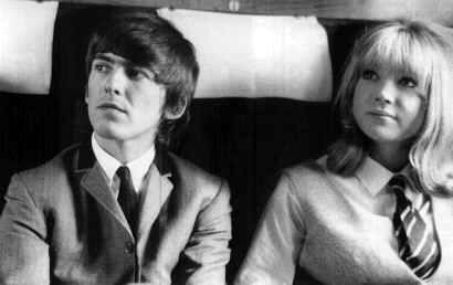 George Harrison and Patty Poyde in the film `A Hard Day's Night'