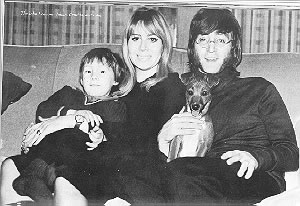 John, Cynthia and their son Julian