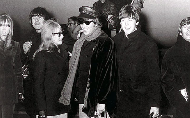 Patti and Cynthia with the Beatles