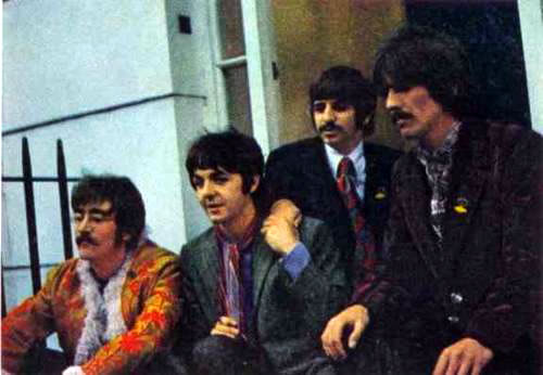 Press launch for `Sgt Pepper's Lonely Hearts Club Band' in the drawing room at 24 Chapel Street