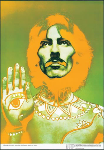 Original psychedelic pop-art color Beatle  pinups by Richard Avedon