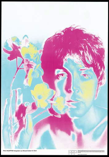 Original psychedelic pop-art color Beatle  pinups by Richard Avedon