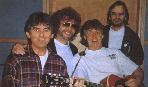 George, Jeff Lynne, Paul, Ringo