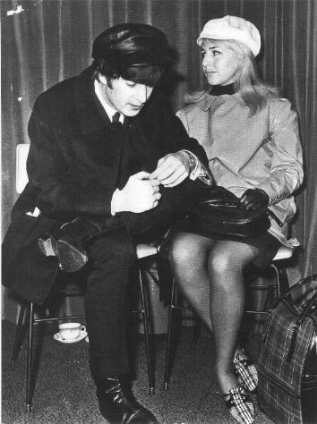 John and Cynthia in airport
