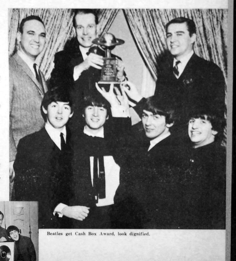 The Beatles get Cash Box Award (US)