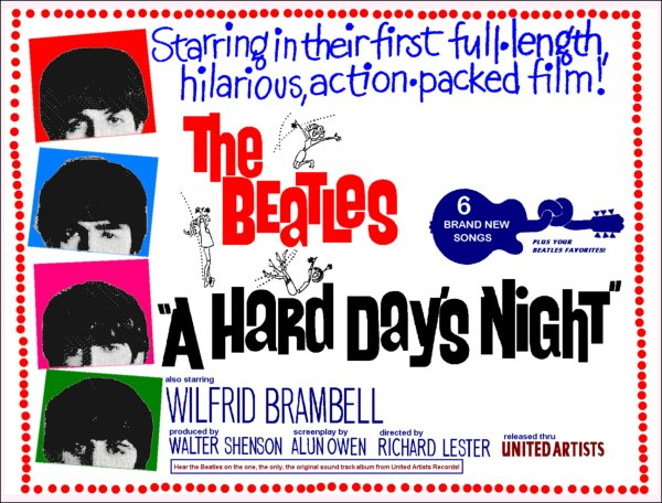 A Hard Day's Night film poster
