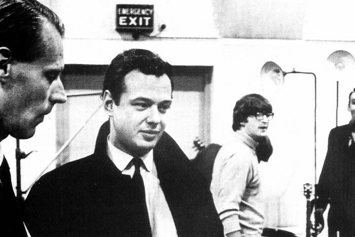 George Martin, Brian Epstein, John Lennon