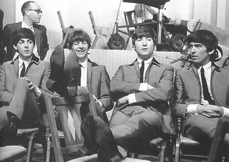 The beatles at the Scala Theatre